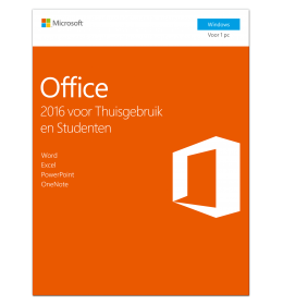 Microsoft Office 2016 Thuisgebruik & Student 1PC Windows