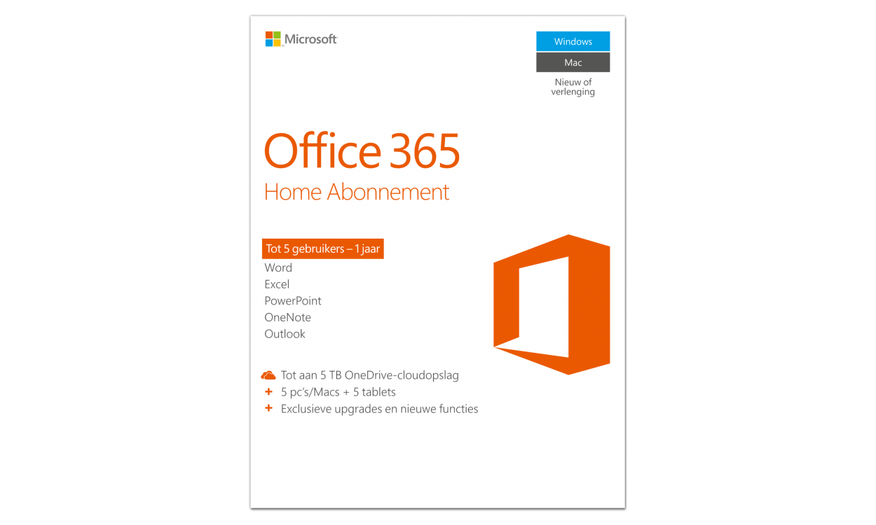 Microsoft Office 365 Home 5PC 1jaar