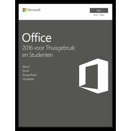 Microsoft Office voor Mac 2016 Thuisgebruik & Studenten 1Mac