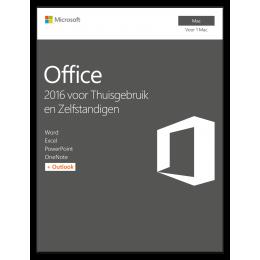 Microsoft Office voor Mac 2016 Thuisgebruik & Zelfstandigen 1Mac