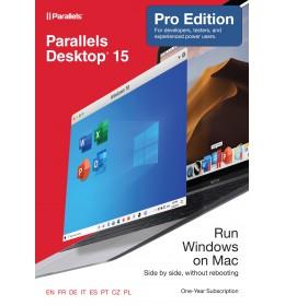 Parallels Desktop 15 PRO - 1Jaar - Thuisgebruik & Professionals