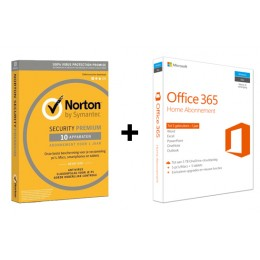 Voordeelbundel: Norton Premium 10-apparaten + Office 365 Home 5-apparaten