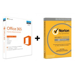 Office voor thuisgebruik: Voordeelbundel: Office 365 Home 5-apparaten + Norton Premium 10-apparaten