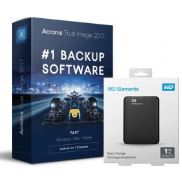 Backup: Back-up oplossing: Acronis + 1 TB Schijf