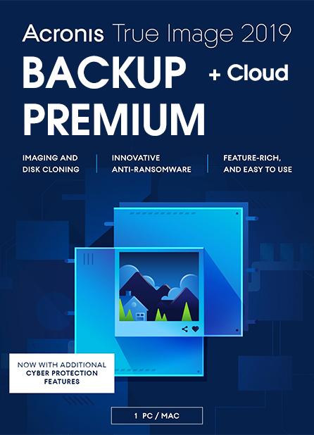 Acronis True Image 2019 Premium 1-PC/MAC + 1 TB Cloud Storage 1 Year