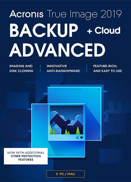 Acronis True Image Advanced 5-PC/MAC + 250 GB Cloud Storage 1 jaar