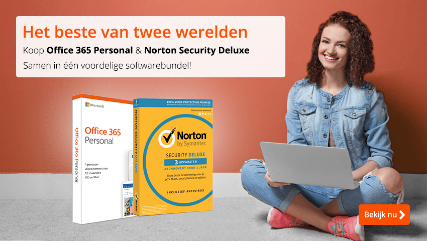 Office 365 + Norton Security Deluxe voordeelbundel