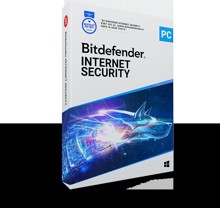 Bitdefender Internet Security 2021 | 1PC - 1jaar | Windows