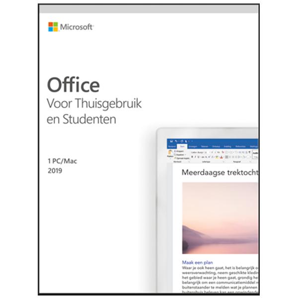 Microsoft Office voor Mac - Windows 2019 Thuisgebruik& Studenten 1Mac