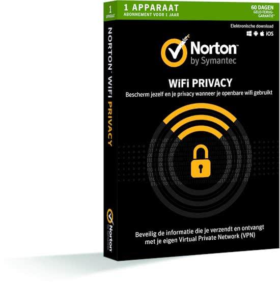 Norton WiFi Privacy 1 Apparaat 1jaar - Downloaden