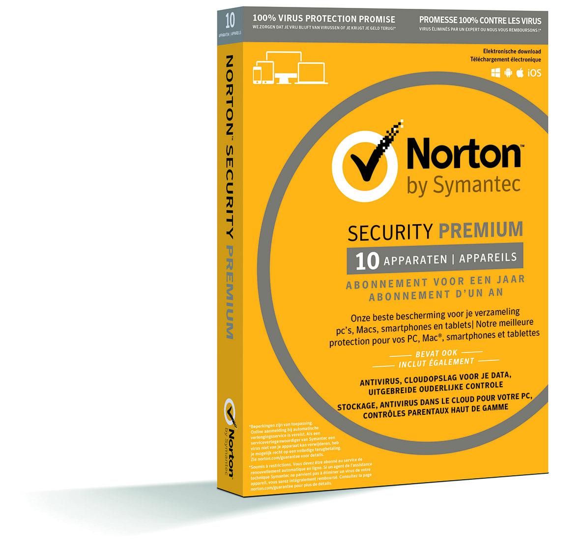 Norton Security Premium 3.0 25 Gb (1 User-10 Devices) (dutch)