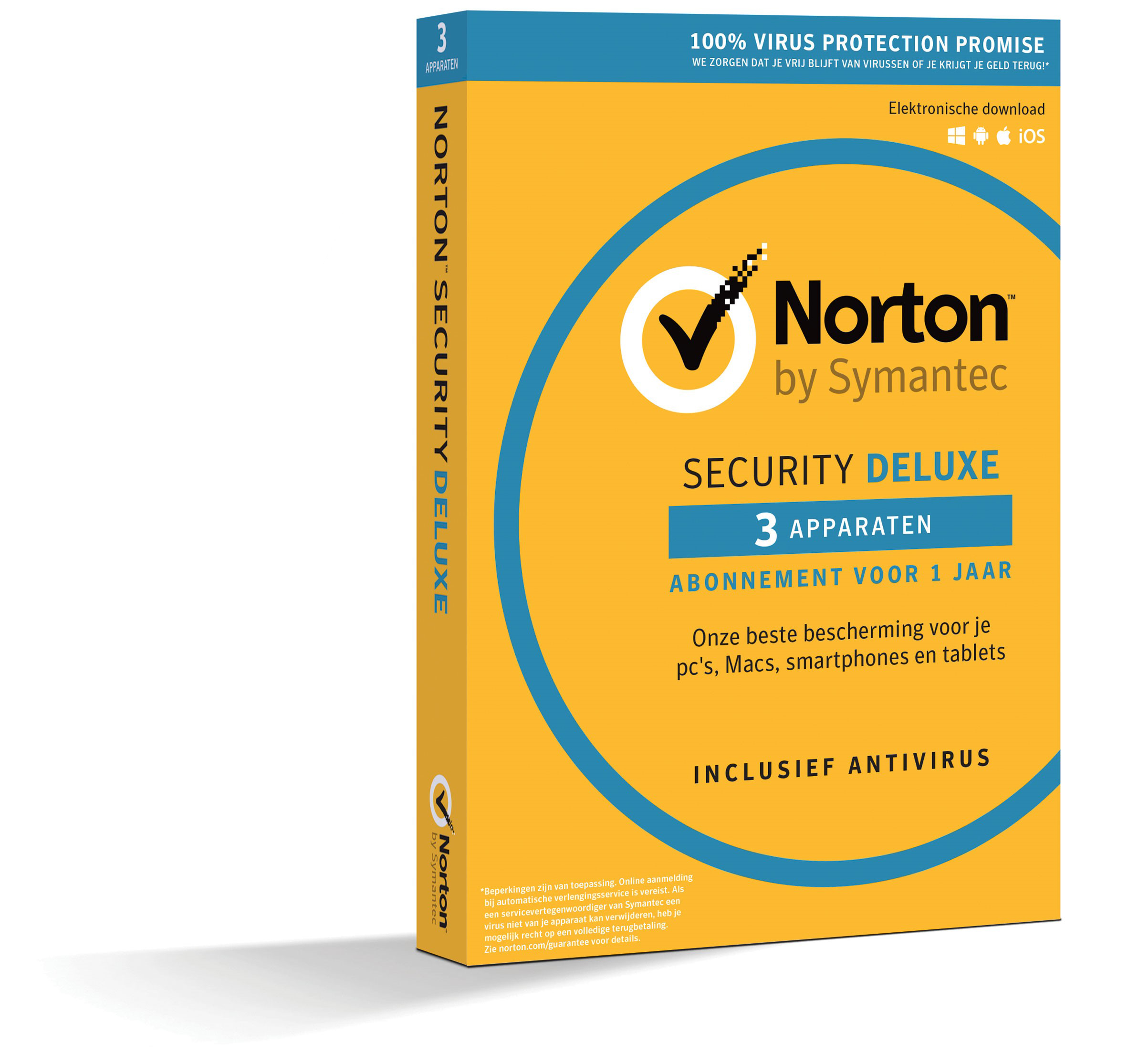 Norton Security Deluxe 3-Devices 1year 2019 Antivirus Included- Windows | Mac | Android | iOs