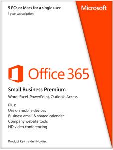 Microsoft Office 365 Small Business Premium 5PC 1jaar